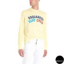 D SQUARED2 Crew Neck Street Style Long Sleeves Cotton
