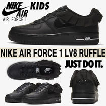 Nike AIR FORCE 1 Petit Street Style Kids Girl Sneakers