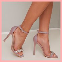 Chi Chi London Square Toe Pin Heels Party Style With Jewels Heeled Sandals
