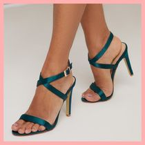 Chi Chi London Round Toe Casual Style Plain Pin Heels Heeled Sandals