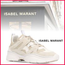 Isabel Marant Round Toe Rubber Sole Lace-up Casual Style Suede Leather