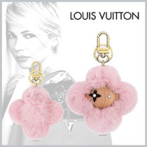 Louis Vuitton Fur Blended Fabrics Leather Keychains & Bag Charms
