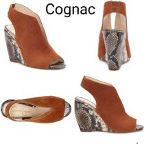 Jessica Simpson Open Toe Casual Style Suede Blended Fabrics Street Style
