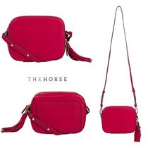 The Horse Casual Style Tassel Plain Leather Shoulder Bags