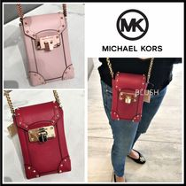 Michael Kors Chain Plain Leather Crossbody Shoulder Bags