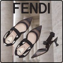 FENDI Monogram Casual Style Blended Fabrics Street Style Leather