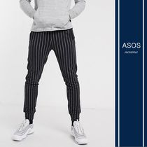 ASOS Tapered Pants Stripes Street Style Cotton Tapered Pants