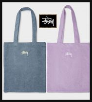 STUSSY Casual Style Street Style Plain Logo Totes