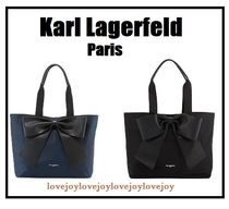 Karl Lagerfeld Casual Style Faux Fur Elegant Style Totes