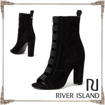 River Island Suede Plain Elegant Style High Heel Boots