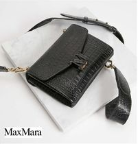 MaxMara Leather Party Style Office Style Elegant Style Shoulder Bags