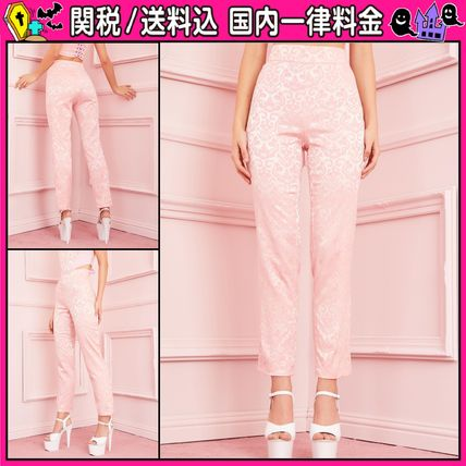 DOLLS KILL Flower Patterns Casual Style Long Pants