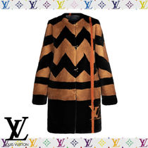 Louis Vuitton Mink Fur Intarsia Coat