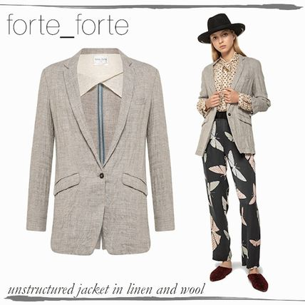 Casual Style Wool Medium Office Style Formal Style  Jackets