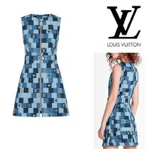 Louis Vuitton Other Plaid Patterns Monogram Cotton Logo Dresses