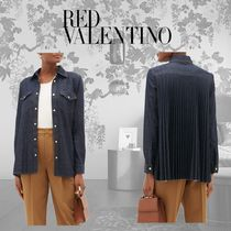 RED VALENTINO Casual Style Long Sleeves Plain Cotton Shirts & Blouses