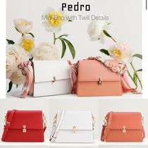Pedro Casual Style Calfskin 2WAY Plain Party Style Elegant Style
