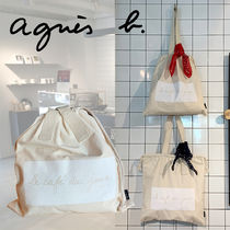 Agnes b Casual Style A4 2WAY Plain Totes