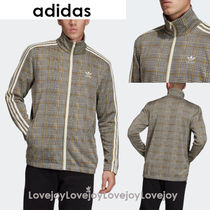 adidas Other Plaid Patterns Logo Track Jackets