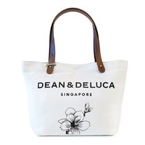 DEAN&DELUCA Flower Patterns Casual Style Unisex Office Style Totes