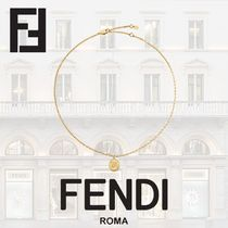 FENDI KARLIGRAPHY Chain Brass Necklaces & Pendants