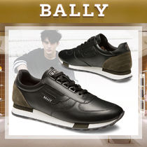 BALLY Bi-color Plain Leather Sneakers