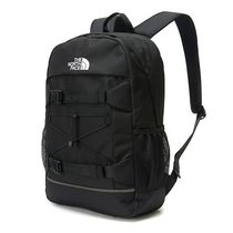 THE NORTH FACE Casual Style Unisex Street Style A4 Plain Logo Backpacks
