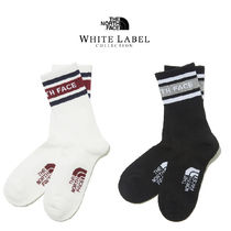 THE NORTH FACE WHITE LABEL Unisex Street Style Plain Cotton Logo Socks & Tights