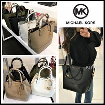 Michael Kors A4 3WAY Plain Leather Crossbody Shoulder Bags