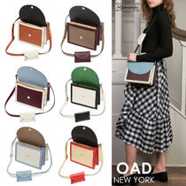 OAD NEW YORK Casual Style Street Style 2WAY Bi-color Plain Leather
