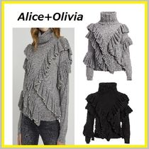 Alice+Olivia Casual Style Wool Long Sleeves Plain Office Style
