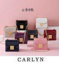 CARLYN Casual Style 3WAY Chain Office Style Python Shoulder Bags