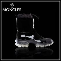 MONCLER Leather Ankle & Booties Boots