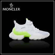 MONCLER Plain Leather Low-Top Sneakers