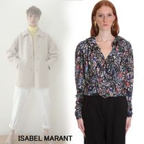 Isabel Marant Flower Patterns Paisley Silk Long Sleeves Medium Party Style