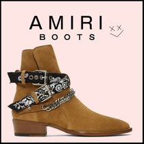 AMIRI Suede Plain Leather Boots