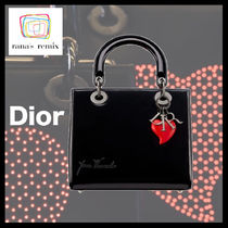 Christian Dior Heart Calfskin Collaboration Party Style Elegant Style