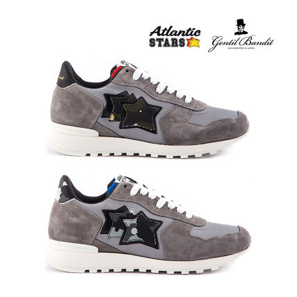 Star Camouflage Street Style Logo Sneakers