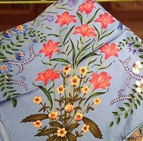 GUCCI Flower Patterns Casual Style Silk Party Style Office Style