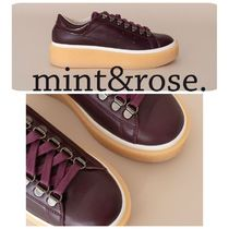 mint&rose. Casual Style Leather Low-Top Sneakers