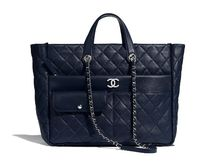 CHANEL Unisex Calfskin Street Style A4 2WAY Chain Plain Logo Totes