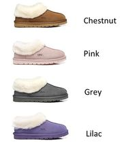 Moccasin Casual Style Sheepskin Street Style Plain Slippers