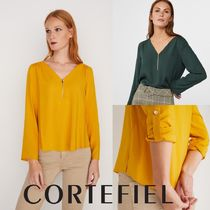 CORTEFIEL Casual Style Long Sleeves Plain Shirts & Blouses