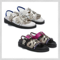 TOGA Open Toe Casual Style Leather Slippers Sandals