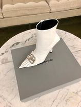 BALENCIAGA Street Style Plain Leather Pin Heels Party Style