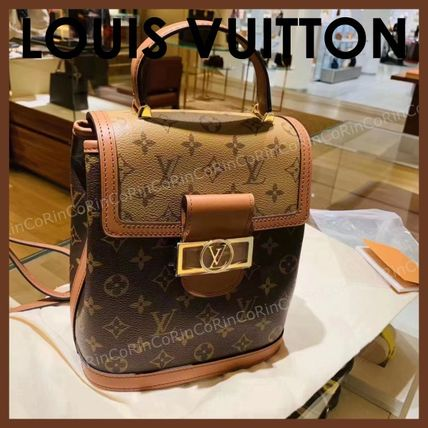 Louis Vuitton Monogram Logo Backpacks