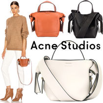 Acne Casual Style Leather Office Style Elegant Style
