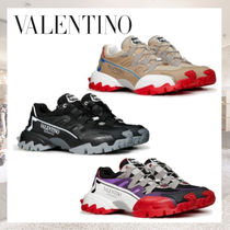 VALENTINO Leather Logo Sneakers
