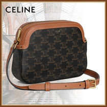 CELINE Triomphe Casual Style Calfskin Office Style Elegant Style