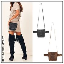 SPELL Casual Style Studded Street Style 2WAY Plain Leather